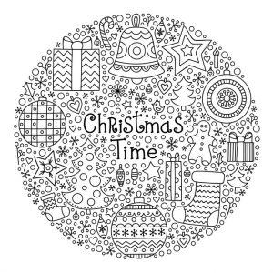 Weihnachtsmandala